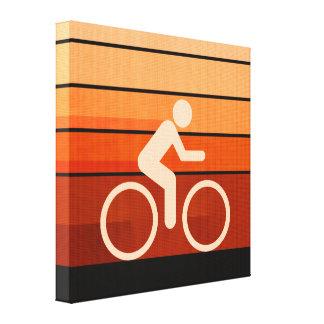 Naranja Biking Lona Envuelta Para Galerias