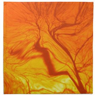 naranja borroso loco del árbol servilletas