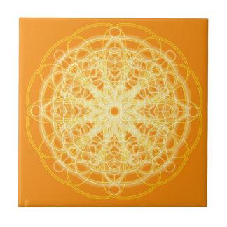 Naranja brillante de la geometría sagrada de la ma teja cerámica