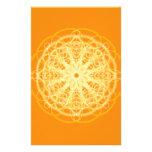 Naranja brillante de la geometría sagrada de la ma papelería