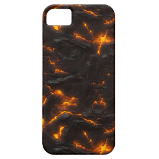 Naranja brillante del flujo de lava y volcánico iPhone 5 carcasas