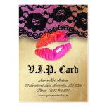 Naranja brillante del rosa de la tarjeta del VIP d Plantilla De Tarjeta Personal