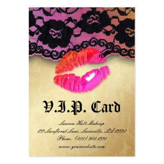Naranja brillante del rosa de la tarjeta del VIP Tarjetas De Visita Grandes
