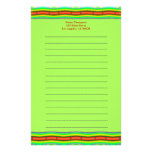 Naranja brillante y verde lima papelería personalizada