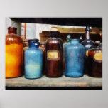 Naranja, Brown y botellas azules Impresiones