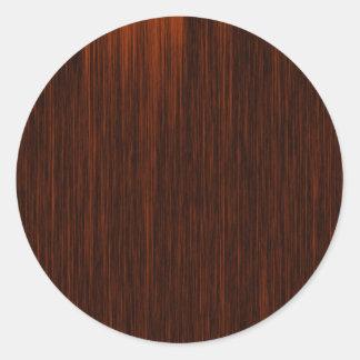 Naranja/Brown y líneas negras modelo Etiquetas Redondas