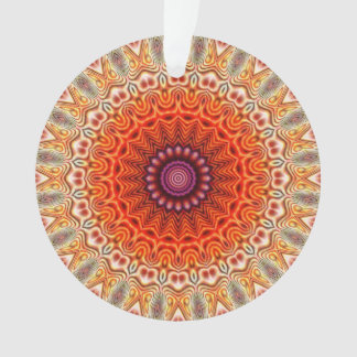 Naranja caleidoscópico de la flor y diseño del