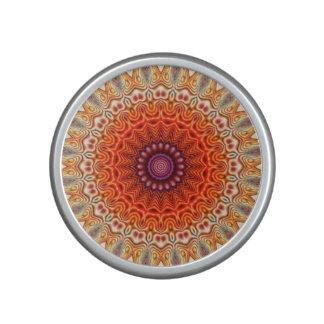 Naranja caleidoscópico de la flor y diseño del altavoz bluetooth