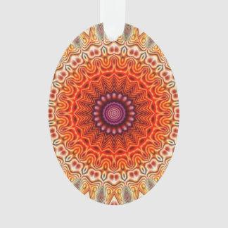 Naranja caleidoscópico de la flor y diseño del bla