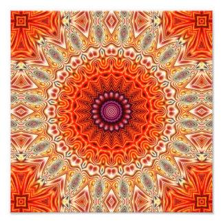 Naranja caleidoscópico de la flor y diseño del fotografía