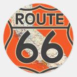 Naranja California de la ruta 66 Etiqueta Redonda