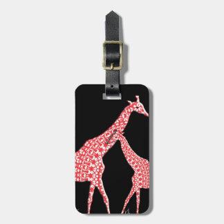 Naranja caprichoso de la jirafa del modelo del etiquetas maletas