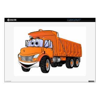 Naranja Cartoon.png del camión volquete 3Ax 38,1cm Portátil Calcomanía