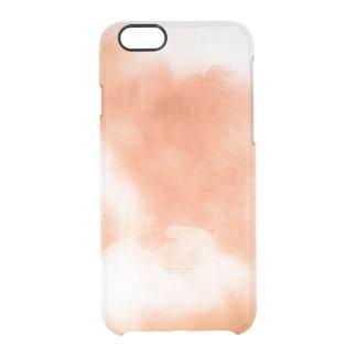 Naranja claro del coral del melocotón del funda clearly™ deflector para iPhone 6 de uncommon