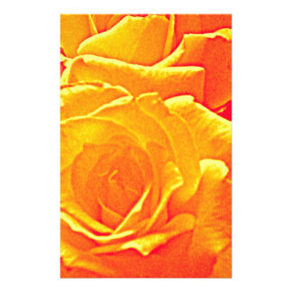 naranja color de rosa fluorescente personalized stationery