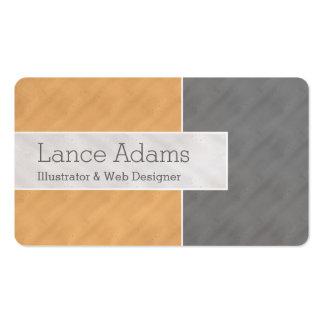 Naranja/ColorBlock gris/de plata Tarjetas De Visita