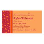 Naranja colorido del arándano del diseño de los cí plantilla de tarjeta personal