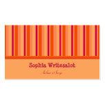 Naranja colorido lindo del arándano de las rayas tarjeta de visita