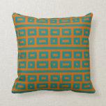 Naranja complementario del trullo de los colores almohadas