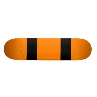 Naranja con dos líneas negras monopatines personalizados