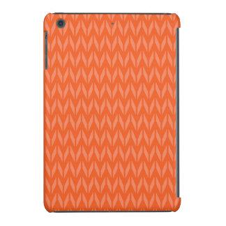 Naranja coralino, salmón, Chevron Funda De iPad Mini