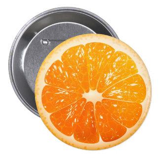 Naranja cortado pin redondo 7 cm
