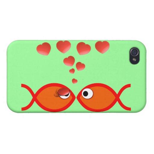 Naranja cristiano v2 de la tarjeta del día de San iPhone 4/4S Fundas