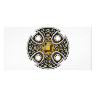 Naranja cruzado y gris del St. Brynach Tarjetas Personales
