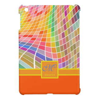 Naranja cuadrado de la superficie curvada de las t iPad mini funda