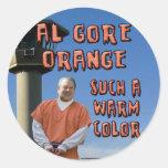 Naranja de Al Gore Etiquetas Redondas