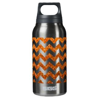 Naranja de Chevron del brillo Botella Isotérmica De Agua