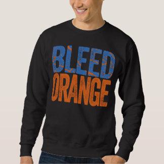 Naranja de corrimiento pulóver sudadera