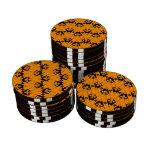 Naranja de encargo de Chevron 2 Juego De Fichas De Póquer