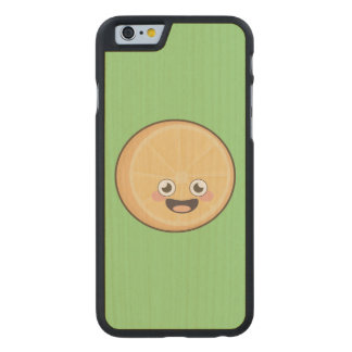 Naranja de Kawaii Funda De iPhone 6 Carved® De Arce