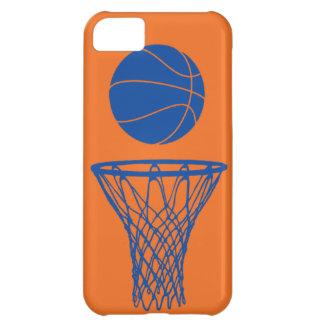 naranja de Knicks de la silueta del baloncesto del
