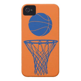 naranja de Knicks de la silueta del baloncesto del Case-Mate iPhone 4 Fundas