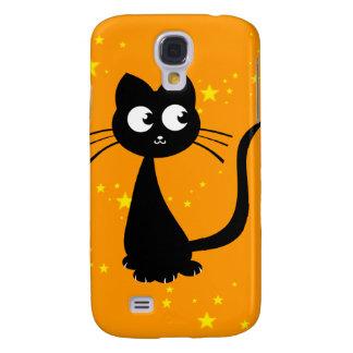 Naranja de Kuro del gatito Funda Para Galaxy S4