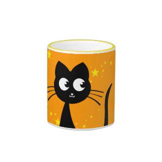 Naranja de Kuro del gatito Taza De Café