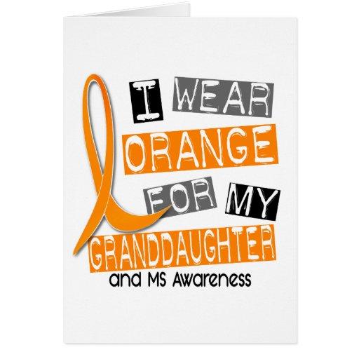 Naranja de la esclerosis múltiple del ms para mi n tarjetas