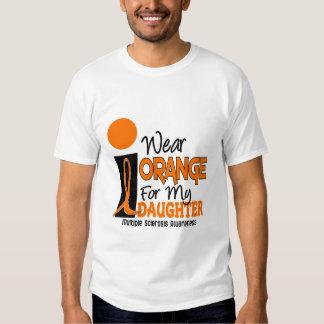 Naranja de la esclerosis múltiple del ms para mi polera