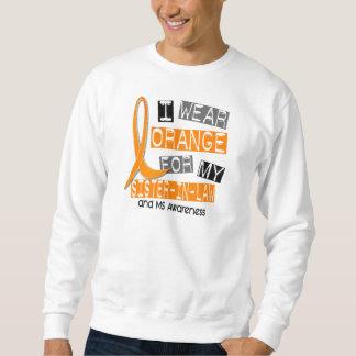 Naranja de la esclerosis múltiple del ms para mi sudadera