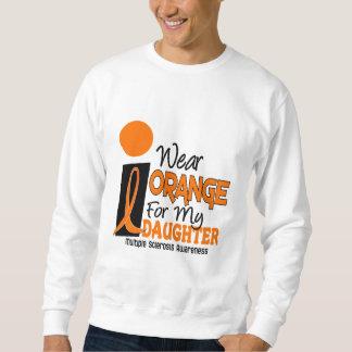 Naranja de la esclerosis múltiple del ms para mi sudaderas encapuchadas