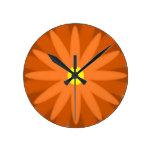 Naranja de la floración reloj de pared