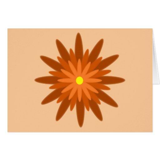 Naranja de la floración tarjetas