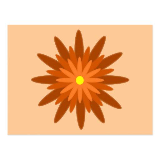 Naranja de la floración tarjetas postales