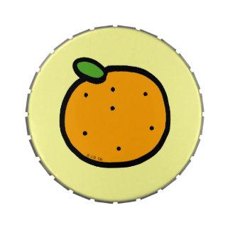 naranja de la fruta latas de caramelos