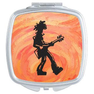 Naranja de la guitarra de las noches de la boogie espejo maquillaje