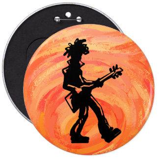Naranja de la guitarra de las noches de la boogie pin redondo de 6 pulgadas