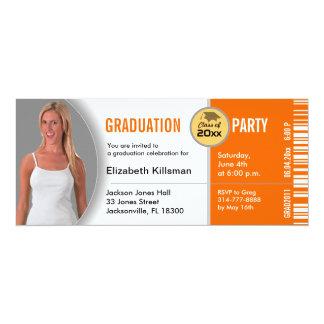 Naranja de la invitación TKT313 del fiesta del