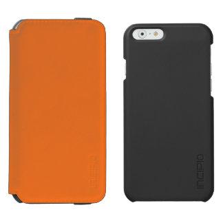 Naranja de la mandarina funda billetera para iPhone 6 watson